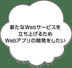新たなWebサービスを立ち上げるためWebアプリの開発をしたい