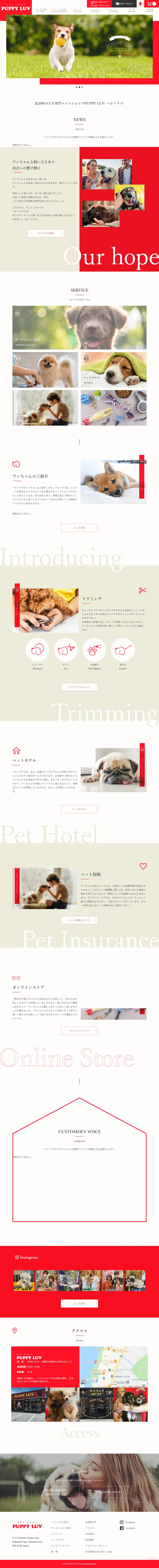 puppyluvホームページ
